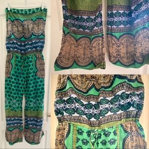 Bohemian Strapless jumpsuit